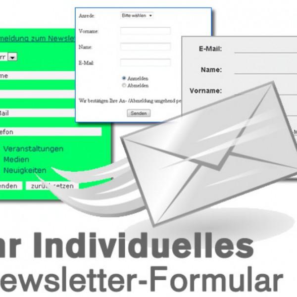 Anpassung Newsletter Formular