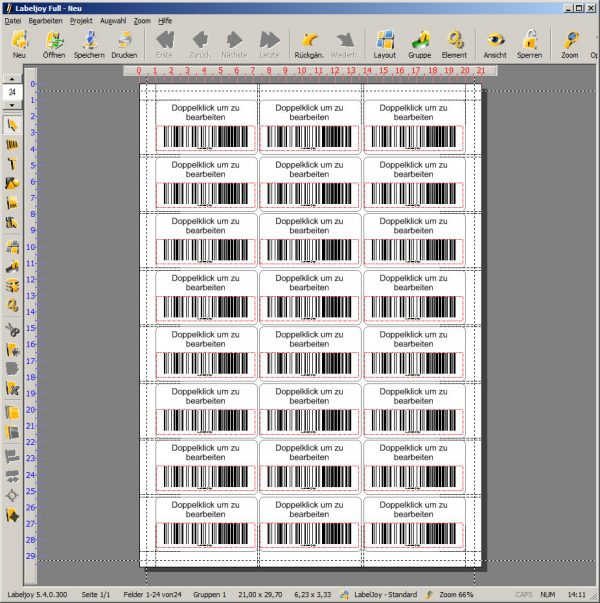 Labeljoy Professionelle Barcode Software